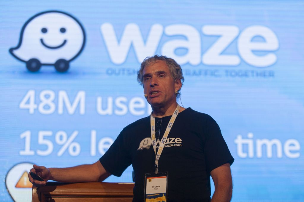 Waze co-founder Uri Levine at a Jerusalem conference in May (photo credit: Flash90)