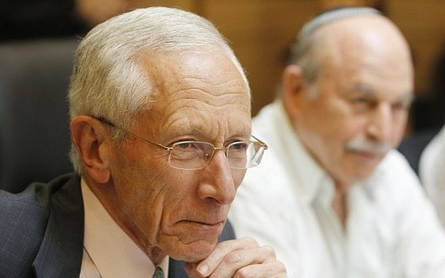 Bank of Israel Governor Stanley Fischer attends a session of the Knesset's Finance Committee on Monday, June 3 (photo credit: Miriam Alster/Flash90)
