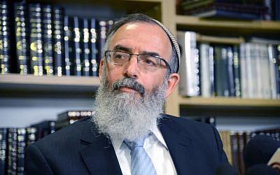 Rabbi David Stav, cofounder and chairman of the Tzohar rabbinical organization. (Yossi Zeliger/Flash90)