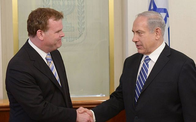 Prime Minister Benjamin Netanyahu meets with Canadian Foreign Minister John Baird on June 18, 2013. (Photo credit: Amos Ben Gershom/GPO/FLASH90)