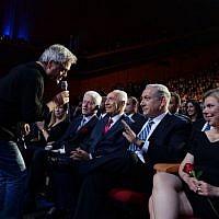 Shlomo opted to take off his jacket, while Sara Netanyahu showed some leg, but nothing excessive (photo credit: Kobi Gideon/Flash 90)