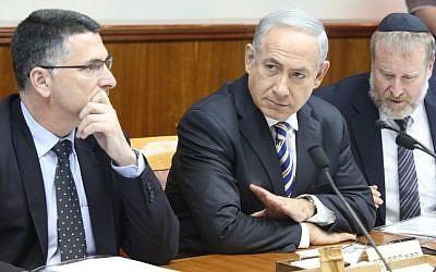 Prime Minister Benjamin Netanyahu leads a weekly cabinet meeting in Jerusalem (photo credit: Marc Israel Sellem/Pool/Flash90)