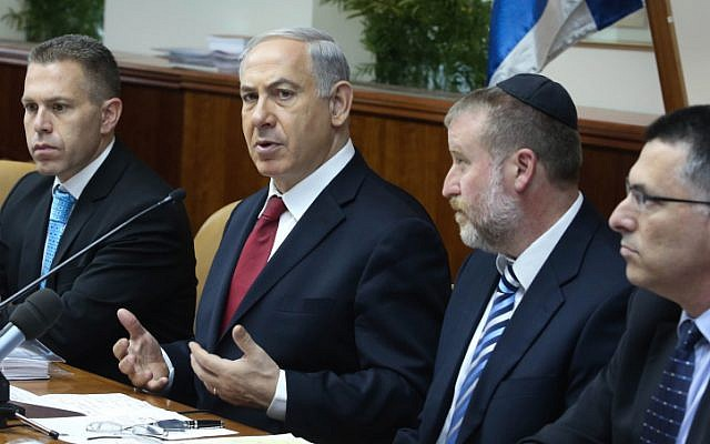 Prime Minister Benjamin Netanyahu speaks at the weekly cabinet meeting in Jerusalem on Sunday, June 30 (photo credit: Marc Israel Sellem/Flash90)