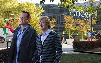 This film publicity image released by 20th Century Fox shows Owen Wilson, right, and Vince Vaughn in a scene from 'The Internship.' (photo credit: AP Photo/20th Century Fox, Phil Bray)