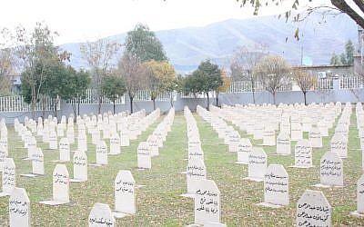 Graves of victims of Halabja gas attack in Kurdistan region of Iraq (photo credit: Lazar Berman/Times of Israel)