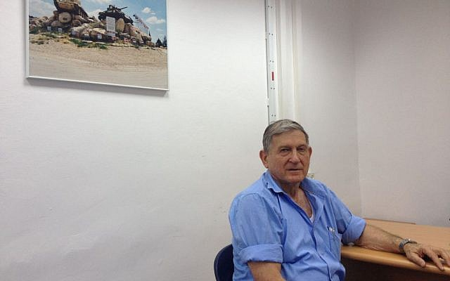 Maj. Gen. (res) Emanuel Sakal (Photo credit: Mitch Ginsburg/ Times of Israel)