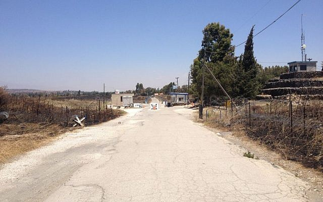 The road from Israel to the UN position and Syria beyond (Photo credit: Mitch Ginsburg/ Times of Israel)