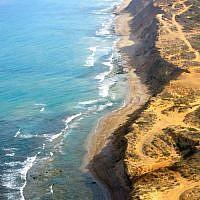 Israeli Coastline - Stunning sand cliffs, a few minutes north of Herziliyah. (photo: Qanta Ahmed)