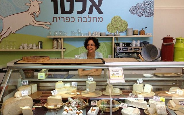 The proprietress of Alto at Kibbutz Shomrat (photo credit: Jessica Steinberg/Times of Israel)