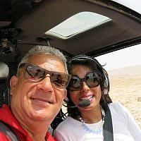 With pilot Uri Perez of D.Eden Aviation Ltd (photo: Qanta Ahmed)
