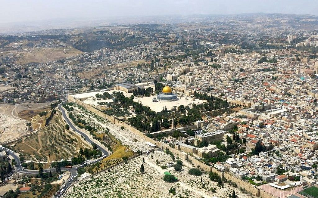 Aerial view of Jerusalem (photo credit: Qanta Ahmed/File)