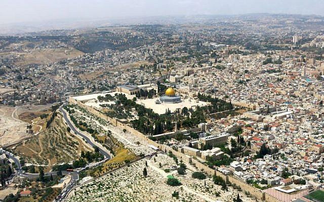 Aerial view of Jerusalem (photo credit: Qanta Ahmed/File)