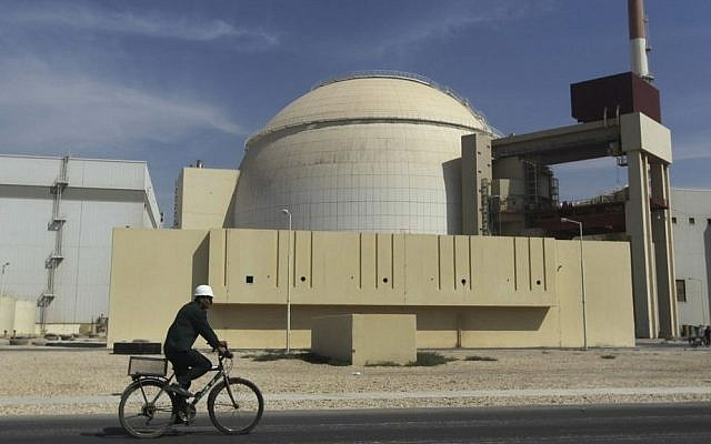 The reactor building of the nuclear power plant just outside the southern city of Bushehr, Iran (photo credit: AP/Mehr News Agency/Majid Asgaripour/File)