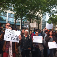 OccupyGezi protesters in Koln, Germany, June 1, 2013 (photo credit: OccupyGezi official Facebook page)