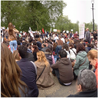 OccupyGezi protesters in London June 1, 2013 (photo credit: OccupyGezi official Facebook page)
