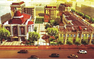 Artist's rendering of the plan for the renovated Main Synagogue (photo credit: courtesy Dan Ben-Canaan)