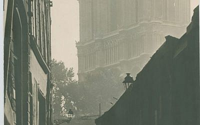 Untitled: Paris Street Scene with Notre Dame, by Man Ray