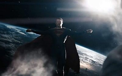 Kal-El in Christ pose. (photo credit: Warner Brothers)