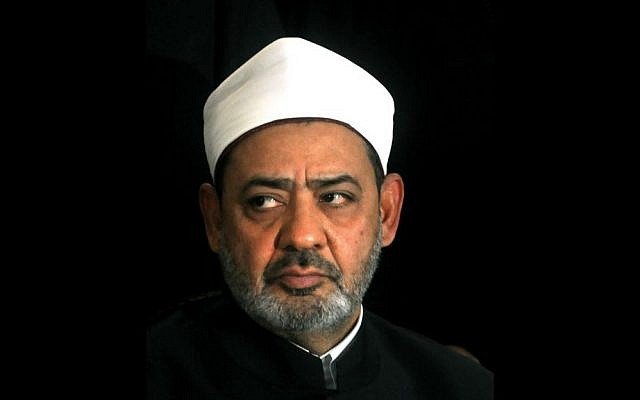 Ahmed el-Tayeb the grand sheik of Cairo's Al-Azhar, the pre-eminent theological institute of Sunni Islam, talks to the media in Cairo, Egypt. (photo credit: AP)