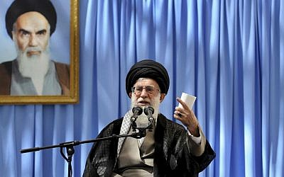 Iran's Supreme Leader Ayatollah Ali Khamenei in June, 2013. (photo credit: AP/Office of the Supreme Leader)