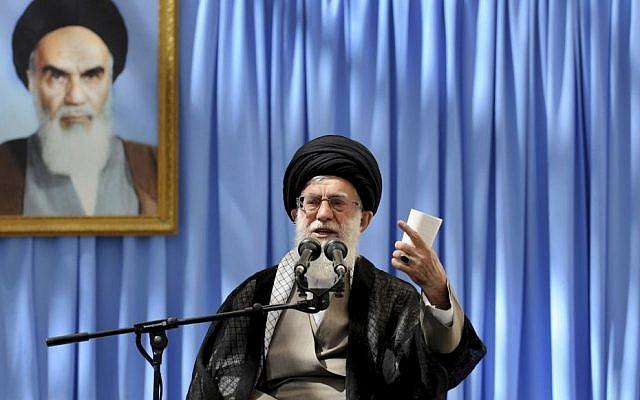 Iran's Supreme Leader Ayatollah Ali Khamenei in June, 2013. (photo credit: AP/Office of the Supreme Leader)