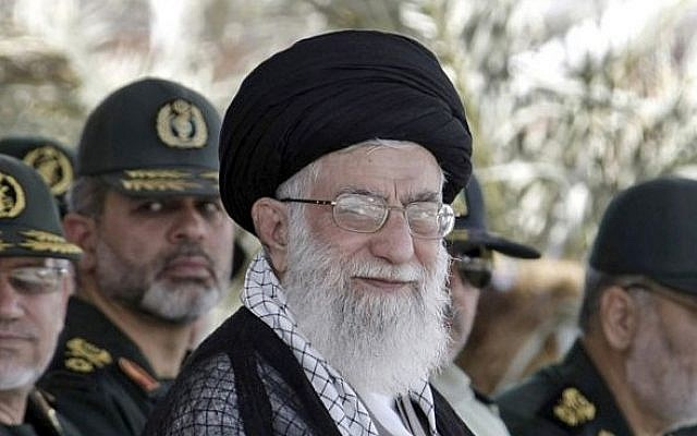 Iranian Supreme Leader Ayatollah Ali Khamenei (photo credit: AP/Office of the Supreme Leader)