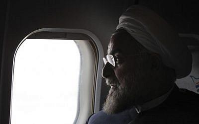 Iranian President Hasan Rouhani (photo credit: AP/Vahid Salemi/File)
