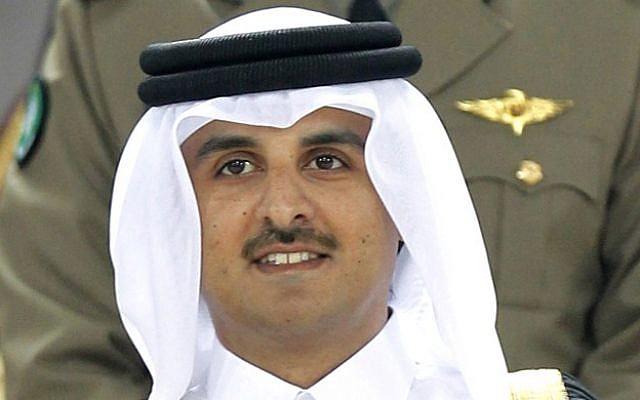 Qatar's Sheikh Tamim bin Hamad al-Thani in Doha, Qatar, 2011 (photo credit: AP/Hassan Ammar)