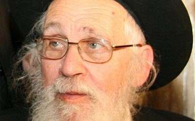Rabbi Yehoshua Yeshaya Neuwirth (photo credit: CC BY-SA 3.0, by Shmuelxq, Wikimedia Commons)