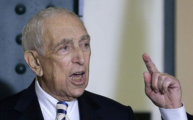 Sen. Frank Lautenberg, the oldest member of the Senate, speaks in his hometown of Paterson, New Jersey, where he said he planned to retire at the end of his current term. (photo credit: AP/Mel Evans)