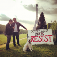 A rally in Paris, France, supporting the anti-government protests in Turkey, June 1, 2013 (photo credit: OccupyGezi official Facebook page)