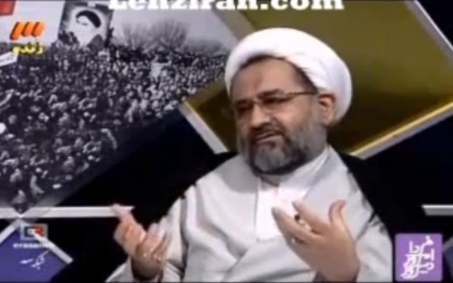 Iranian Intelligence Minister Heydar Moslehi (photo credit: image capture from YouTube)