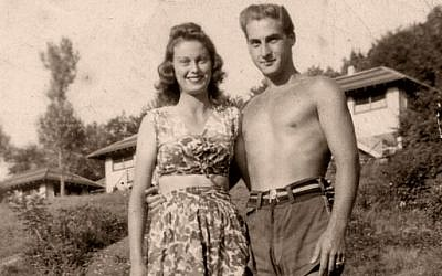 Young Sid Caesar with his then fiancee Florence, who stayed his wife for over six decades, at the Avon Lodge (photo credit: International Film Circuit, Inc.)