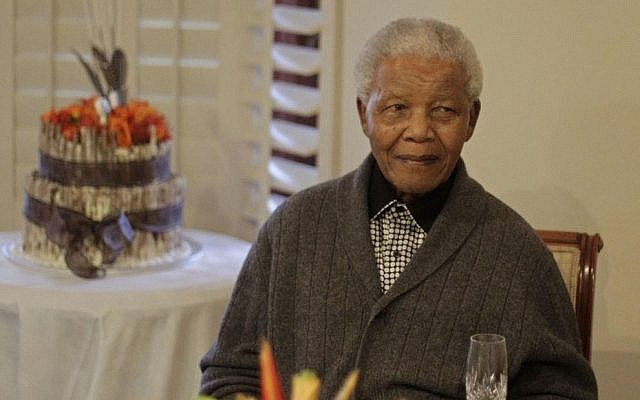 Former South African president Nelson Mandela  celebrates his 94th birthday with family in Qunu, South Africa, July 18, 2012. (photo credit: AP/Schalk van Zuydam)