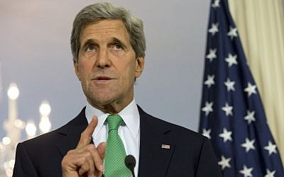 US Secretary of State John Kerry at a news conference at the State Department in Washington, in June, 2013. (photo credit: AP/Jacquelyn Martin)