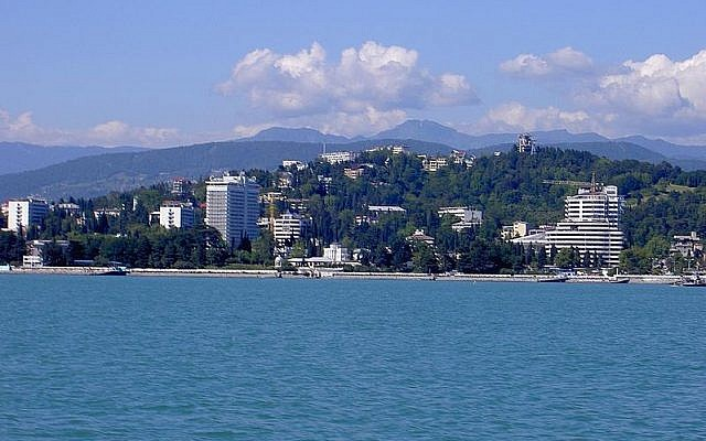 The Black Sea resort city of Sochi, Russia (photo credit: public domain)