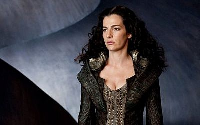 Ayelet Zurer in 'Man of Steel,' which she called a wonderful experience' -- from the 'fabulous wardrobe' to working with Russell Crowe (Courtesy official Facebook page for Ayelet Zurer)