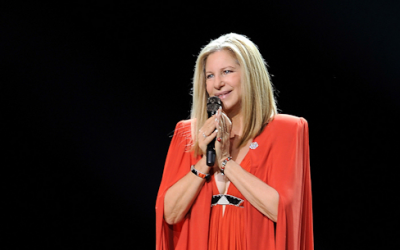 Barbra, in all her glory, performing last week in Amsterdam (photo credit: Official Barbra Streisand Facebook page)