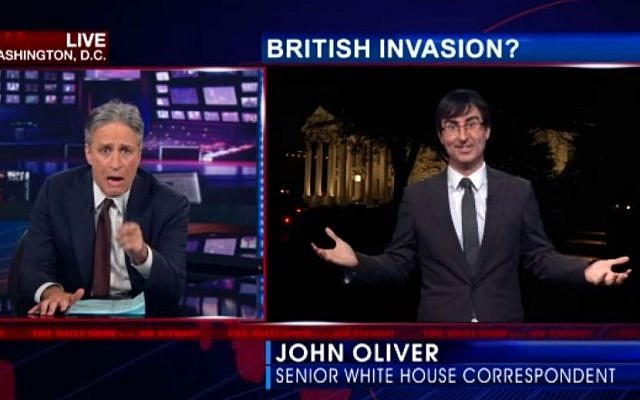 Jon Stewart and Jon Oliver on the Daily Show. (Screen Capture)