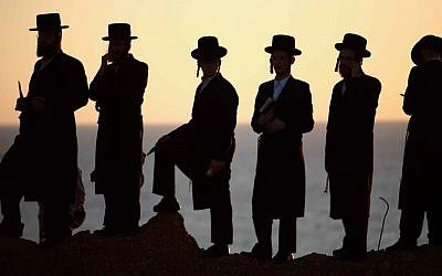 Ultra-Orthodox men (illustrative photo: Yehoshua Yosef/Flash90)