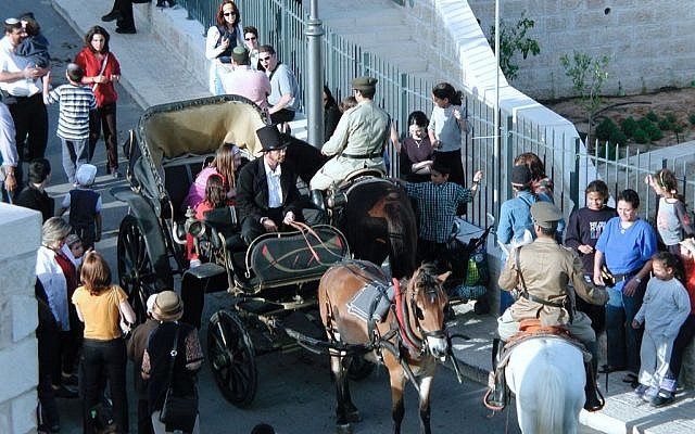 Montefiore's carriage, Independence Day (photo credit: Shmuel Bar-Am)