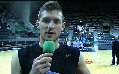 Maccabi Haifa point guard Gal Mekel (YouTube screen capture)