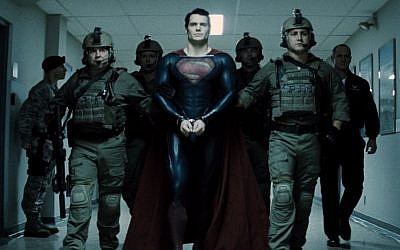 Kal-El is taken to the authorities. (photo credit: Warner Brothers)