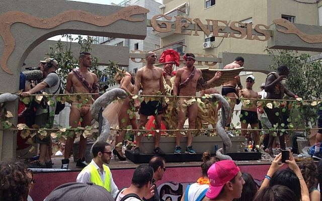 The gay pride parade in Tel Aviv, Friday. (photo credit: Times of Israel staff)
