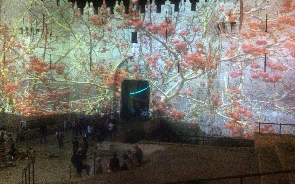 Damascus Gate remade as 'The Tree of Life,' by Heinz Kasper (photo credit: Times of Israel staff)