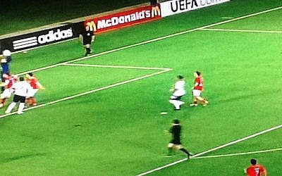 Action from England's defeat to Norway, 3-1, on June 8 (photo credit: Sports1 screenshot)