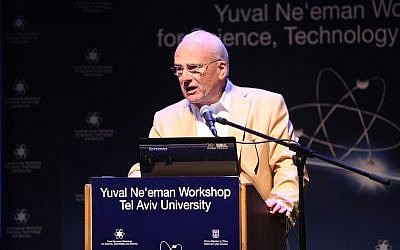 Richard A. Clarke speaks at the Third Annual International Cyber Security Conference of Tel Aviv University's Yuval Ne'eman Workshop (Photo credit: Courtesy)