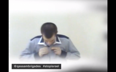 Newly-released footage of Gilad Shalit as he prepares to return to Israel (photo credit: Youtube screenshot)