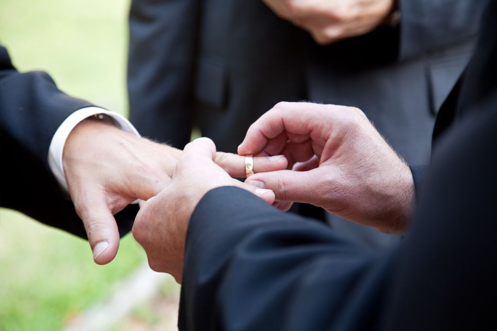 (Gay marriage image via Shutterstock)