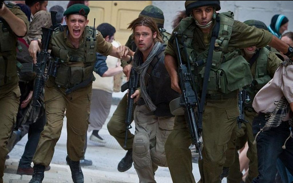 Brad Pitt in 'Israel' in 'World War Z' (photo credit: Paramount Pictures)